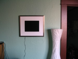 Picture Frame In Situ