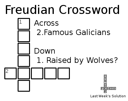 Freudian Crossword