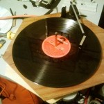 Record player, mounted