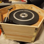 Record player in frame